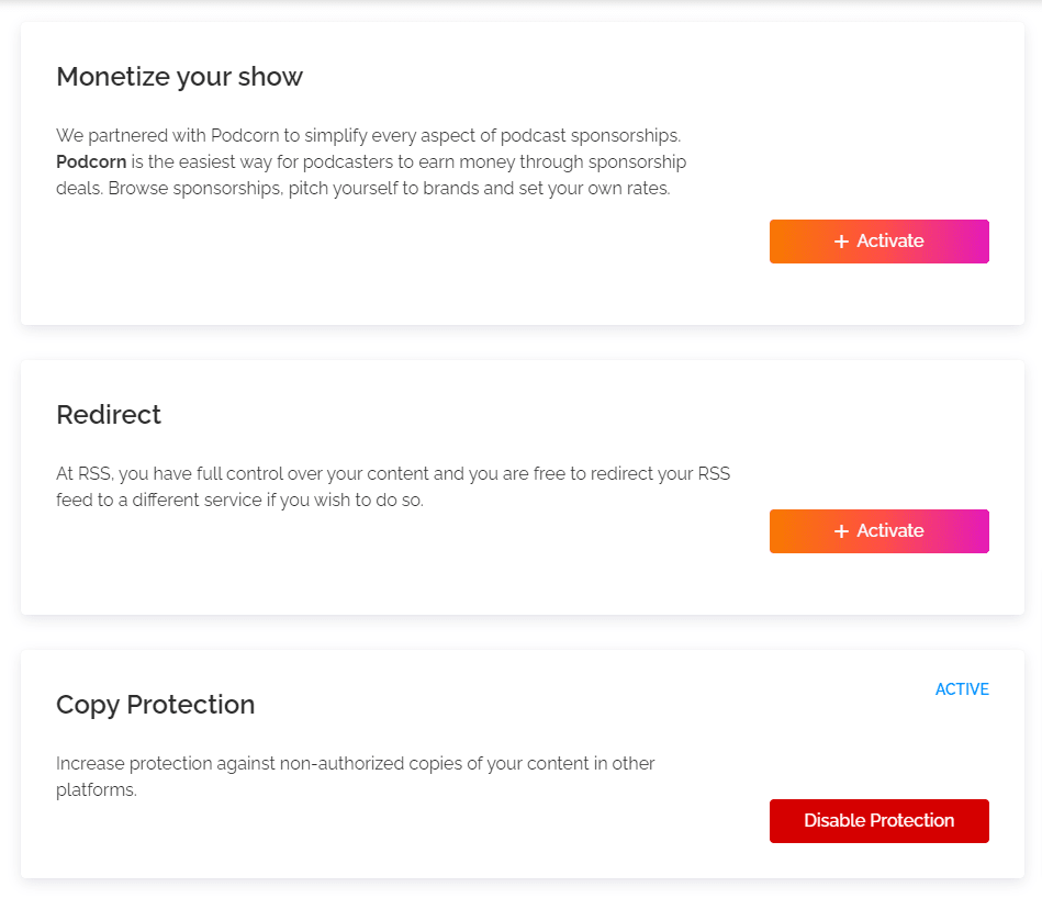 podcast copy protection