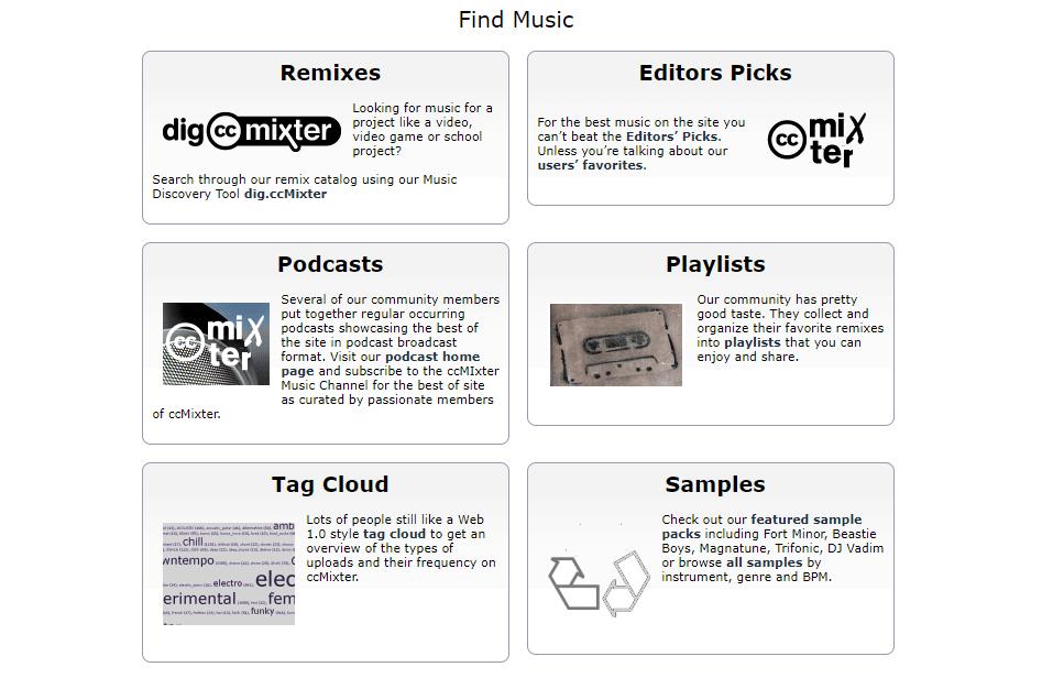 cc mixter music