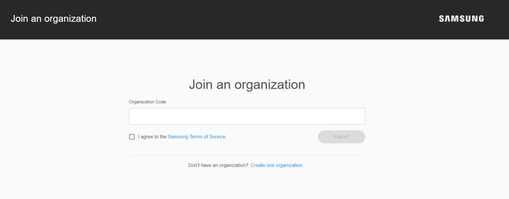 samsung join an organization