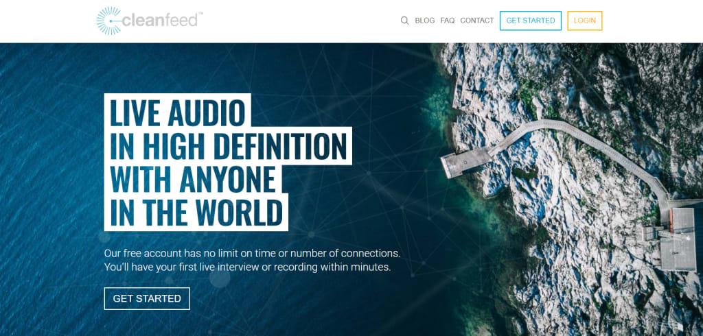 cleanfeed homepage