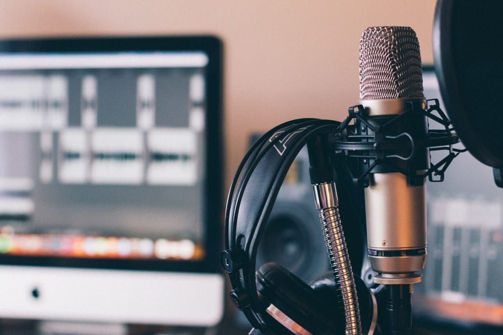 picture of podcasting equipment