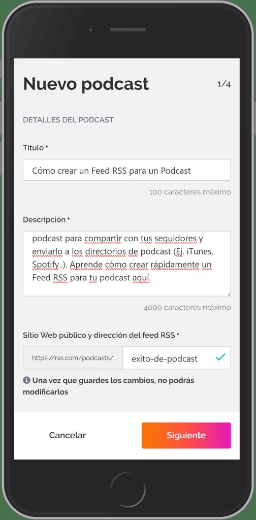 Cómo crear un Feed RSS para un Podcast