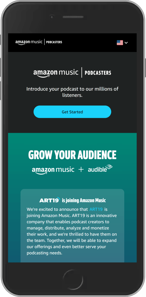 submit podcast to amazon music and audible
