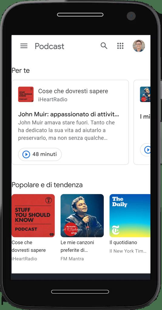 google podcasts italian