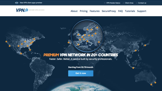 Página principal de VPN.AC