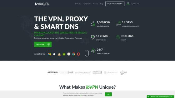 Página principal de ibVPN
