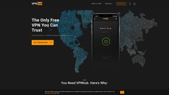 Página principal de VPNhub