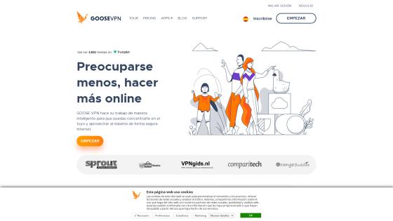 Página principal de GOOSE VPN