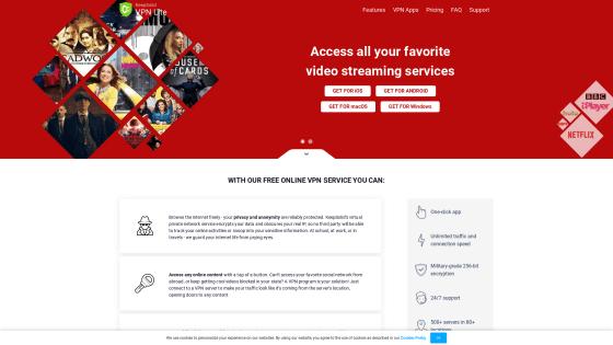Página principal de VPN Lite