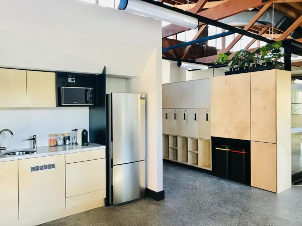 Fully furnished kitchenette and plenty of lockers