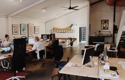 Creative open-plan workspace