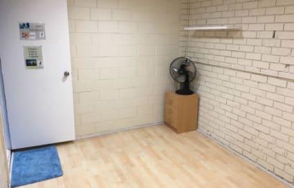 Therapy room alongside gym studio