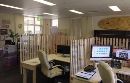 Desks available in creative space