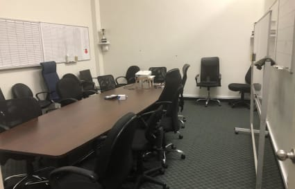 Large Board Room with Projector in