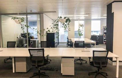 14 Permanent Desks + Office