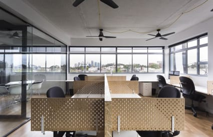 Open plan office space for 9