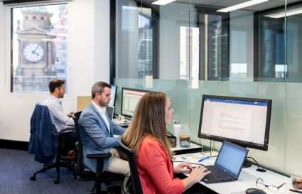 8 Person external office with natural light and generous views of Sydney Harbour and the Opera House