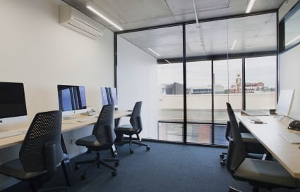 Private Office for 6 in Cremorne -  with views out over Richmond through floor to ceiling windows