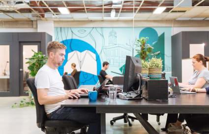 3 Person Creative workspace