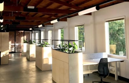 Dedicated Desks in Light Open Space