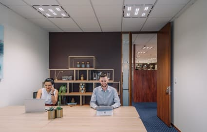 Modern private workspace for 2 people in the award-winning Riparian Plaza Building