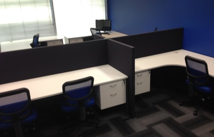 8 Desks and Boardroom Available