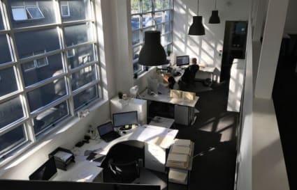 Desk space for 2 in open plan