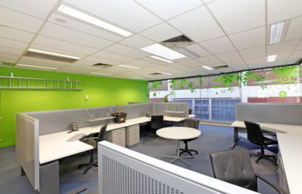 Semi private pod of 4 dedicated zero carbon desks in West Melbourne