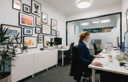 Dedicated coworking desks off Hyde Park