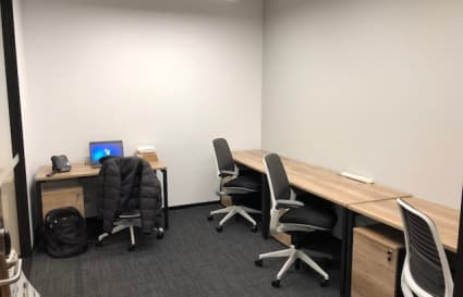 Private internal office space for 3