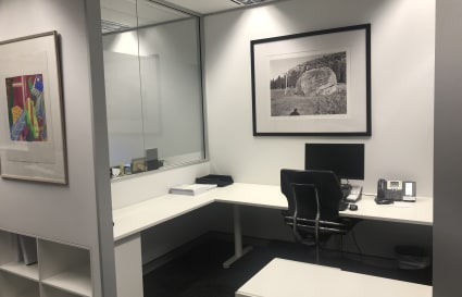 Large desk in semi private alcove for 1 or 2 people in Sydney for $1,000 month + gst