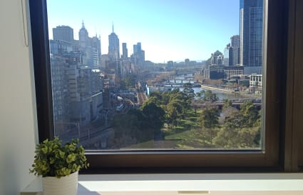 Yarra River view private office for 3