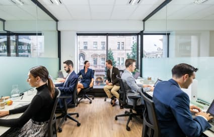 8 Person External Office Space with Filtered Light