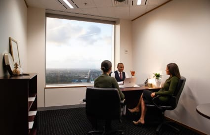 4-person collaborative workspace based with views of Adelaide's skyline