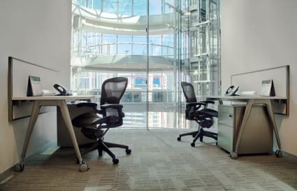 Private office space with Atrium views