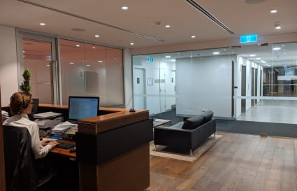 Tenancy for up to 8 people in Sydney's CBD within an established law firm.