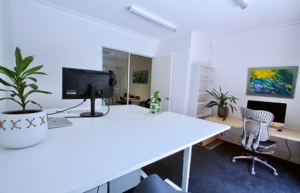 Private furnished office WITH PARKING in the centre of Manly - $1950/ month