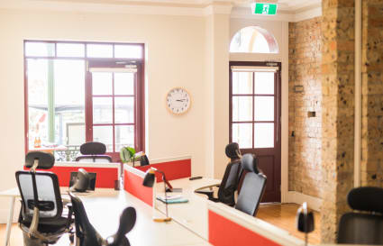 6 social distanced co-working desks, in private heritage, street front terrace, Manly harbourside.