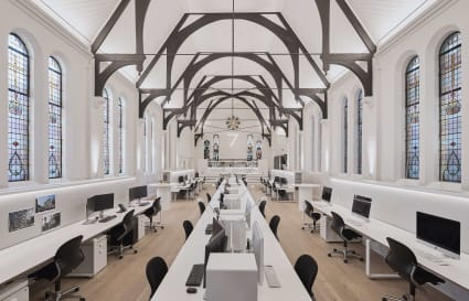 Dedicated desks in beautiful space for rent