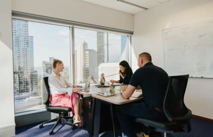 Executive 4-person external office in Melbourne's most prestigious building