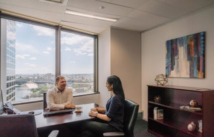 Executive fully furnished 3-Person external office in Brisbane CBD