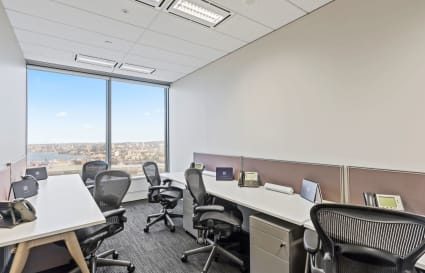 4-Desk Private Office with City Views and a Management Suite