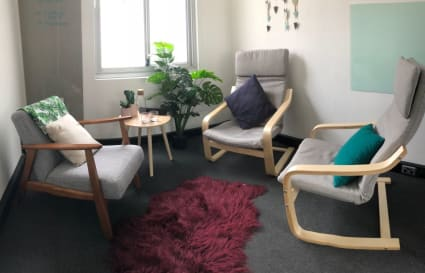 Lounge style consulting room for 3 people (available by the hour)