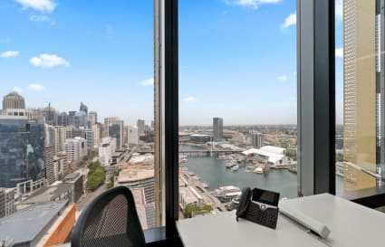 3-Desk Private Office with Darling Harbour Views
