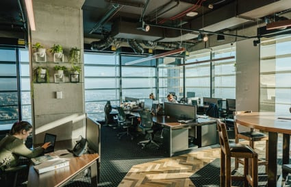 External private office for 5 persons with amazing views