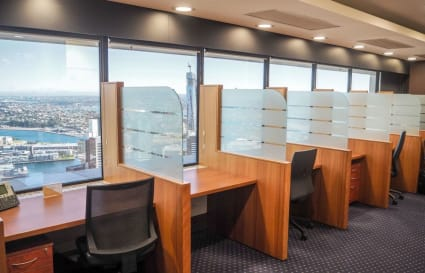 External private workspace for 3 people in the MLC Centre