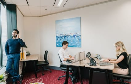 Coworking Hot Desk with harbour views