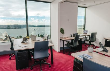 Private 4-person external office with views boasting over the Sydney skyline
