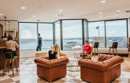 Private 3-person internal office with views boasting over the Sydney skyline
