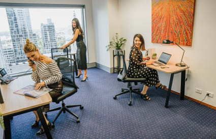 External  workspace for 3 people in Melbourne's most prestigious building
